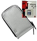 Foto retro Case bianco Set Borsa per fotocamera con scheda SD da 4GB