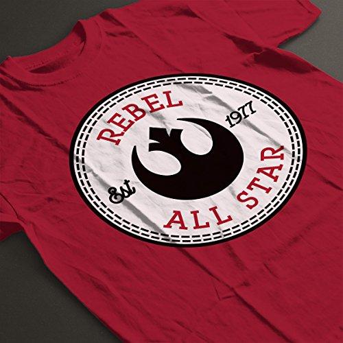Rebel Alliance All Star Converse Logo Women's T-Shirt Cherry Red