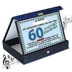Idea Regalo - Targa premio compleanno sonora 60 anni amico| Articolo, idee regalo