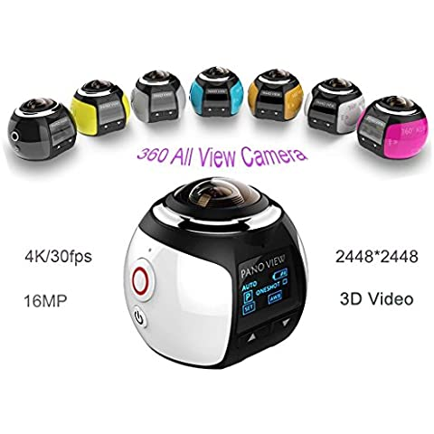 360panoramica fotocamera azione 2448* 2448, 4K Ultra HD Panorama 360°