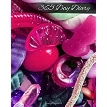 365 Day Diary: Journal Style Notebook -  Sweet Tooth Gummi Candies - 8x10 inches - Glossy Finish