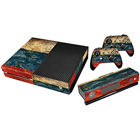 Xbox One Protective Vinly Skin Sticker Consola Decal Pegatinas + 2 Controlador & Kinect Skins Set (Flags Russia