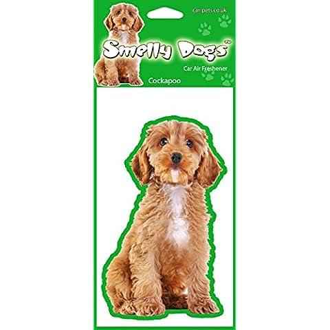 Deodorante per auto, a forma di cane, confezione da 4 pezzi, ogni deodorante è confezionato singolarmente, ideali per la casa, la macchina, il camper