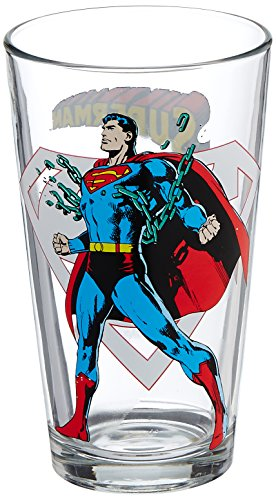 Pint Glass - Dc Comics - Superman Toon Tumbler 16oz Cup New Toys Tt0078