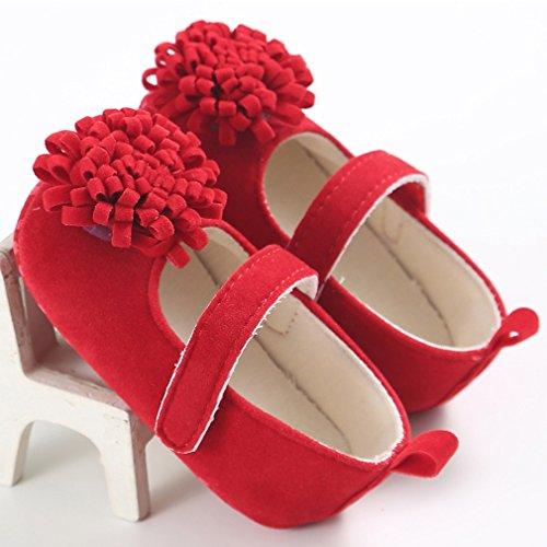 Baby Prinzessin erste Wanderer Schuhe Säugling Blumenschuhe Rot