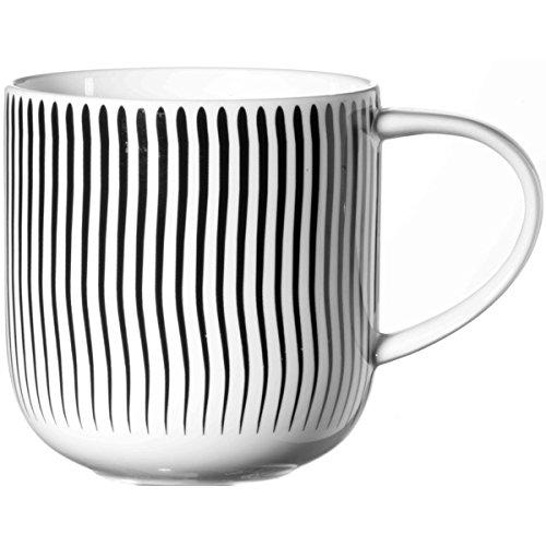 ASA 19103/014 Coppa Henkelbecher wellen vertikal, schwarz/weiß