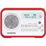 Sangean DPR-67 Radio Portable DAB Blanc/Rouge