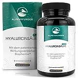 Alpenwunder Hyaluronsäure Kapseln hochdosiert, 100% MADE IN GERMANY, 90 hochwertige Hyaluron Kapseln, 100% Vegan, hergestellt gemäß DIN EN ISO 9001