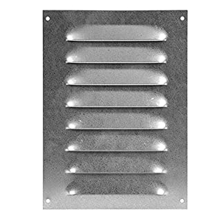 Lüftungsgitter - Abluftgitter - Wetterschutzgitter - mit Insektenschutz - 140x190mm - metall ZINK, MR1419Zn