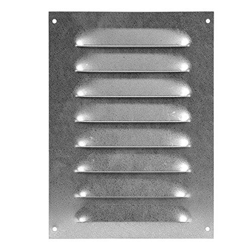 Lüftungsgitter - Abluftgitter - Wetterschutzgitter - mit Insektenschutz - 140x190mm - metall ZINK,...