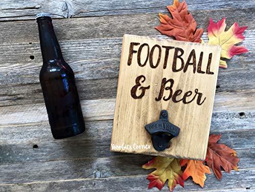 CELYCASY Flaschenöffner für die Wandmontage, Fußball- und Bierflaschenöffner, Flaschenöffner - Fußball Inspirierende