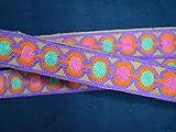 Dekorative Bordüre mit Sari-Bordüre, bestickt, Lavendel