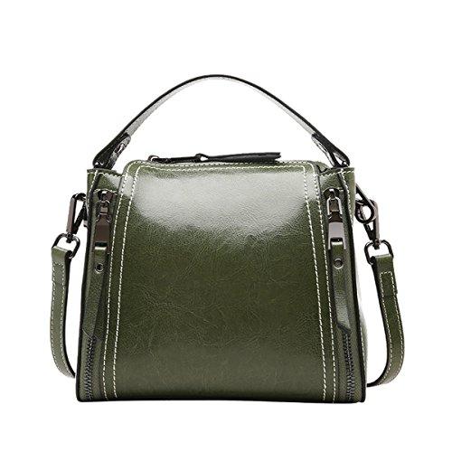 Grün Tote Handtaschen DISSA Schultertaschen Leder Damen Satchel Taschen EQ0906 q6xx8SwzZ