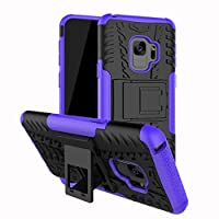 Galaxy S9/S9 Plus Case, Sansee Slim Hybrid Protective Shockproof Heavy Duty Stand Case Skin Cover for Samsung Galaxy S9/S9 Plus (Purple, Galaxy S9)