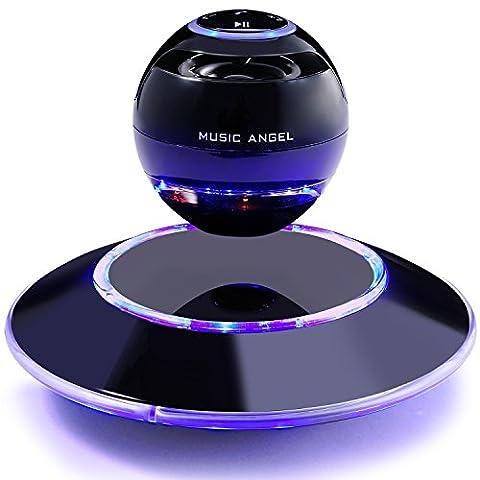 MUSIC ANGEL freischwebender Lautsprecher mit Bluetooth 4.0 Multifarben LED kabellos 360° mit Mikrofon
