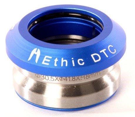 Ethic DTC Basic full integrated Stunt-Scooter Headset+Fantic26 Sticker (Blau)