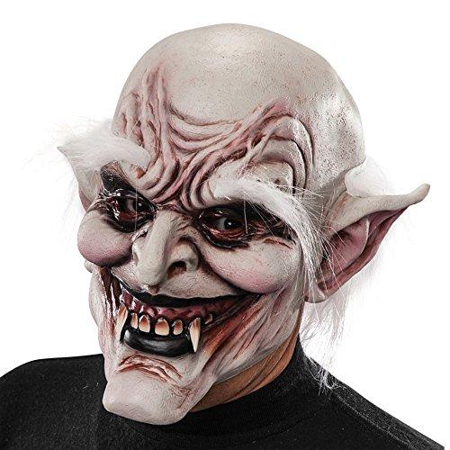 Maske Vampir mit Haar Latex ()