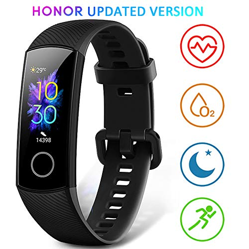 HONOR Band 5 Fitness Armband mit Pulsmesser,Wasserdicht IP68 Smartwatch Schwarz