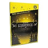 Borussia Dortmund Calendario de Adviento, Negro, Amarillo, 24Acero de chocolate con leche de chocolate puertecitas, emblema de BVB One Size