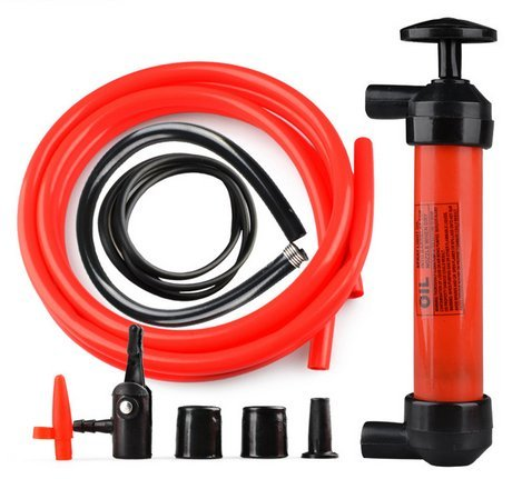 Floratek - Pompa manuale da 200 cc per gonfiare e trasferire liquidi; universale, portatile e multi-funzione, per effettuare il cambio di olio, acqua, carburant