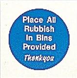 Pool Seite alle Müll in Mülleimer Schild Kreis 150x 150x 2mm blau