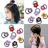 14 Stück Frauen Mädchen Niedliche Sonnenblume Pferdeschwanzhalter Baby Kinder Elastische Haarbänder Gummi Haarbänder