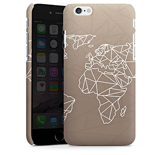 Apple iPhone 6 Silikon Hülle Case Schutzhülle Weltkarte Polygon Reisen Premium Case matt