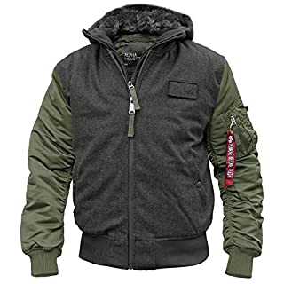 Alpha Industries MA-1 D-Tec Wool Flight Jacket -  green - Small