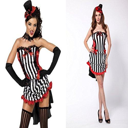 plosion Modelle Halloween vampire Bra Streifenkleid neuen Waren ()
