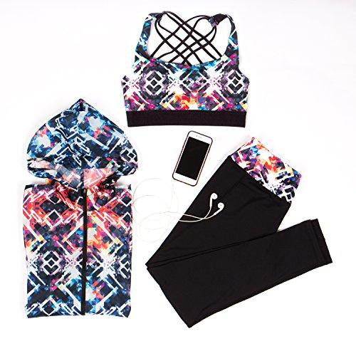 Intimuse - Intimuse Damen Yoga Top Mit Polsterung, Sport shirt Donna Multicolore (Bunt 045)