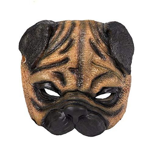 Cosplay Karneval Party Lustige Realistische Latex PU Schaum Vollgesichts Maskerade Tier Mops Cosplay Hundemaske (Michael Myers Real Kostüm)