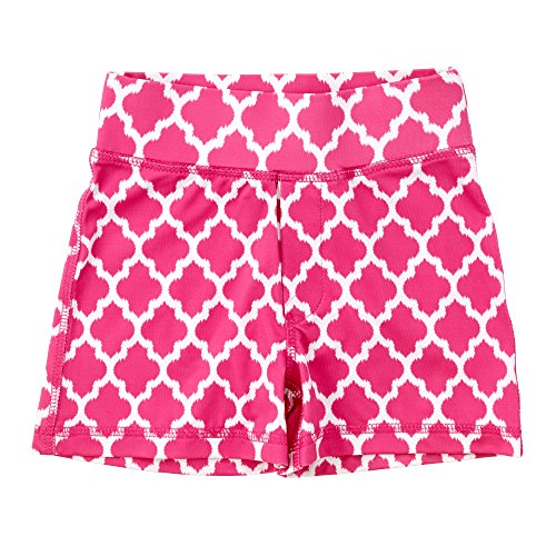 Masala Kids Girl's Acti-Play Jali Ikat Pink Shorts