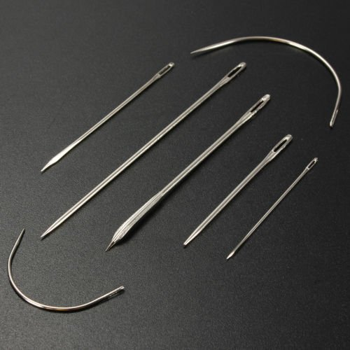 Generic 7x Stainless Hand Repair Upholstery Sewing Needles Carpet Leather Canvas Sewings Sewing Stitching 7X