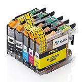K-Tinte kompatibel Tintenpatronen Ersatz für Brother LC223 (5er-Packung - 2 Black, 1 Cyan, 1 Magenta, 1 Gelb)