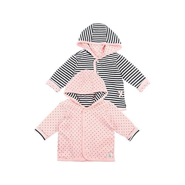 Chaqueta reversible con capucha Ringel puntos Gris antracita/rosa. Talla:56 1