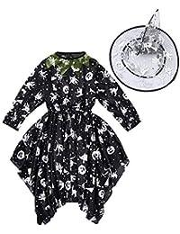 Zaubererhut Mädchen Halloween Tanzkleid Kürbis Hexe Mädchen (0 -24 Monate) sunnymi 3-7 Jahre 2pcs Kleid