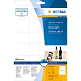 Herma 9642 QR-Code Etiketten (A4 quadratisch Papier matt, blickdicht, 40 x 40 mm) 600 Stück weiß