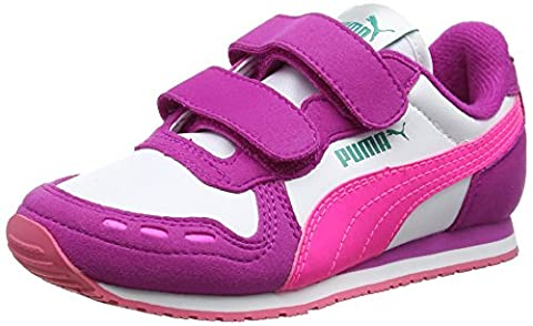Puma Unisex-Kinder Cabana Racer SL V PS Low-Top, Weiß (White-Knockout Pink 50), 33 EU