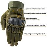 OMGAI Männer voller Finger militärische taktische Handschuhe des harten Knöchel mit Klettverschluss für Airsoft Armee Paintball Motorrad Outdoor Sports Armee Grün M - 2