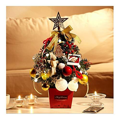 Mini-Weihnachtsbaum-Paket mit Lichtern Schränke für Home-Office-Szene Layout dekorative Partei liefert Desktop-Ornamente schöne hohe 50cm,A