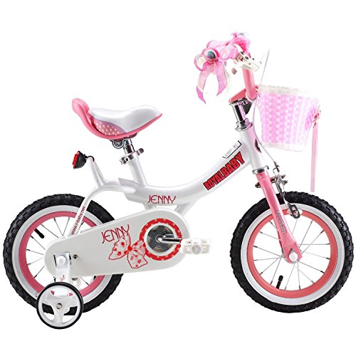 ROYAL BABY PRINCESS PINK GRIL'S BIKES IN SIZE 14″ + Adjustable removable stabilisers+ front pink basket. (R-BABY-14″)