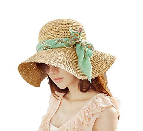 ohhut Wide Brim Sommer Schutz Cap mit Bowknot Dekoration (Kinder-eimer Hüte)