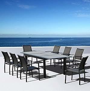 salon de jardin en aluminium 8 personnes ste maxime jardin. Black Bedroom Furniture Sets. Home Design Ideas