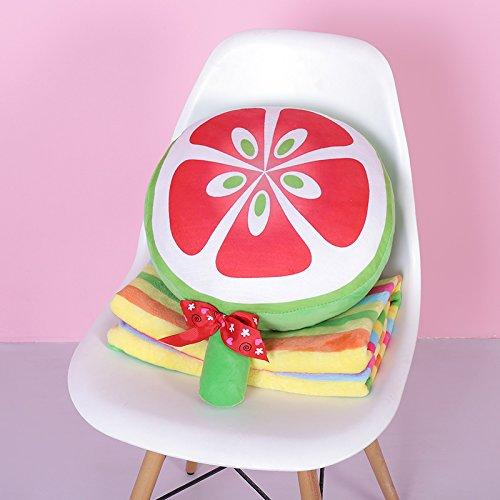 guoguo Kissen-Cartoon-Kissen-Rückenkissen aufgefülltes Lendenkissen, Ausverkauf Solange der Vorrat reicht, grüner brauner Zucker