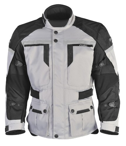 Pilot Men's Trans.Urban Motorcycle Touring Jacket (Silver/Black, XXXX-Large)