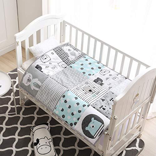 Winthome - Colcha para bebé, manta para bebé, edredón suave para cuna para niños y niñas, algodón...
