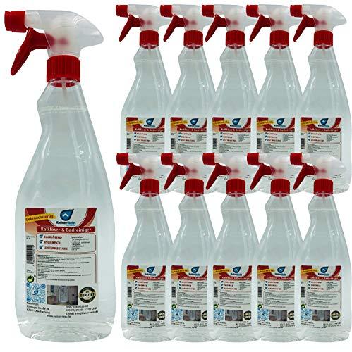 KaiserRein Bad-Reiniger 15 x 1L Schaum-Reiniger Spray reinigt schonend und entfernt Kalk, Schmutz und Fett besser als 10 L Kanister