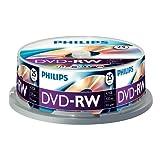 Philips DVD-RW onbewerkte (4,7 GB data / 120 minuten video, 1-4 x Speed Opname 25er Spindel
