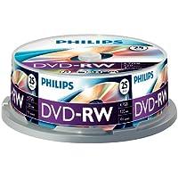 Philips DVD-RW Rohlinge (4.7 GB Data/ 120 Minuten Video, 1-4x Speed Aufnahme, 25er Spindel)