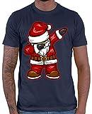 HARIZ  Herren T-Shirt Dabbing Santa Weihnachtsmann Nikolaus Dab Dabbing Tanzen Weihnachten Plus Geschenkkarten Navy Blau XL